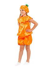Детский карнавальный костюм Апельсин, тыква ( кофта, шорты и шапочка) креп-сатин