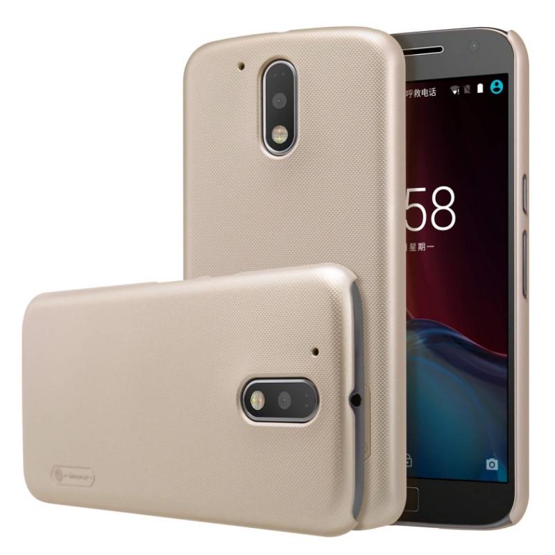 Чохол-накладка Nillkin для Motorola Moto G4/ G4 Plus Matte ser. +півка Золотистий