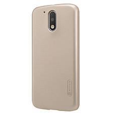 Чохол-накладка Nillkin для Motorola Moto G4/ G4 Plus Matte ser. +півка Золотистий, фото 3
