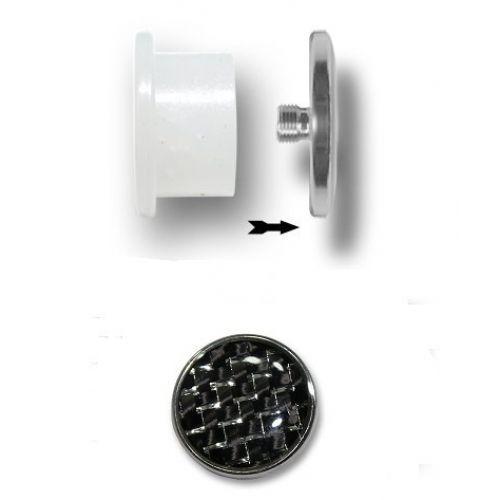 Плаги для пирсинга ушей из биопласта с карбоновой заглушкой 12-16 мм