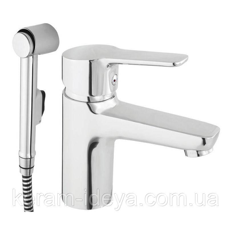 Смеситель для умывальника с биде ручной душ Uno-17 N70001