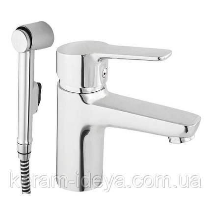 Смеситель для умывальника с биде ручной душ Uno-17 N70001, фото 2
