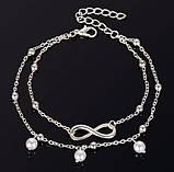 Браслет на ногу (анклет) Primo Infinity - Silver, фото 4
