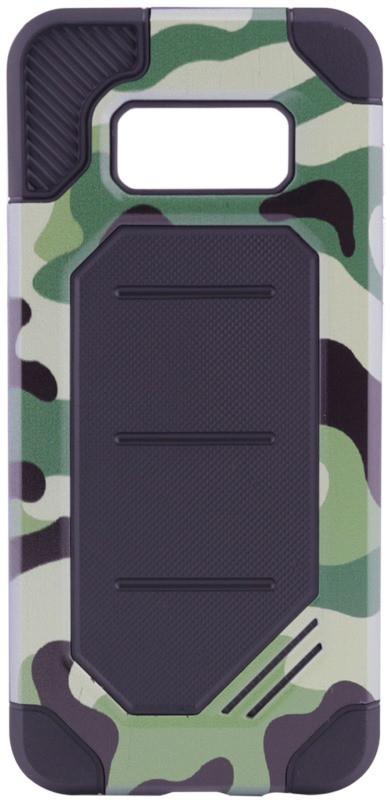 Чохол-накладка Motomo для Samsung G955 S8 Plus Military ser. Камуфляж Зелений