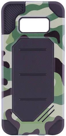 Чохол-накладка Motomo для Samsung G955 S8 Plus Military ser. Камуфляж Зелений, фото 2