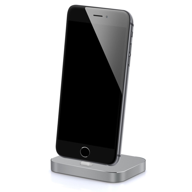 Док-станция iPhone 5 / 5S / SE / 6 / 6S / 6SPlus / 7 / 7Plus Lightning Серый (Space Gray) (325560)