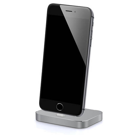 Док-станция iPhone 5 / 5S / SE / 6 / 6S / 6SPlus / 7 / 7Plus Lightning Серый (Space Gray) (325560), фото 2