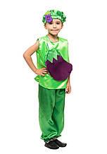 Детский карнавальный костюм Баклажан ( кофта, шорты и шапочка) креп-сатин