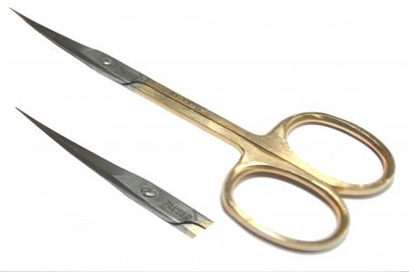 Ножницы для кутикул золотые Zauber арт. 01-137G
