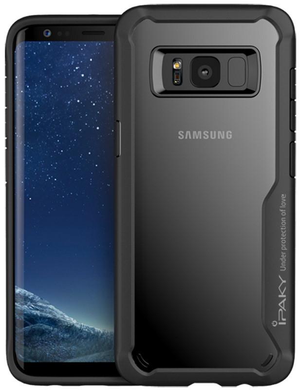 Чохол-накладка iPaky для Samsung G955 S8 Plus Luckool ser.TPU+PC Чорний