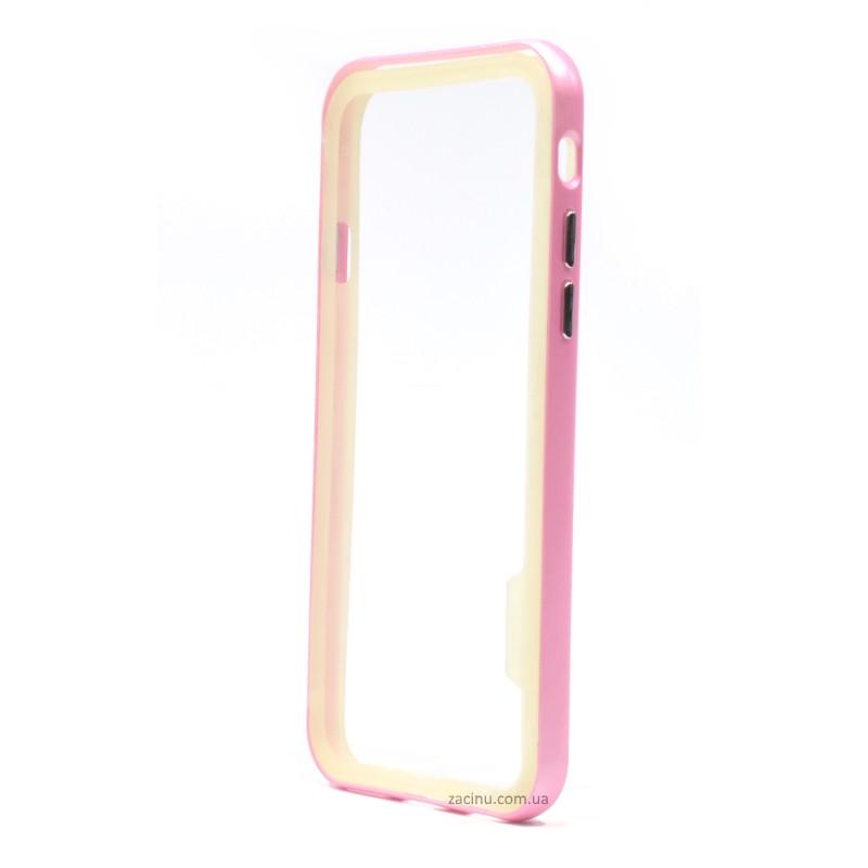 Чохол-бампер Spigen для iPhone 6/6S NEO Hybrid ser. Прозорий/Рожевий(992216)