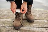 Женские зимние ботинки Timberland brown (Реплика ААА), фото 7