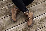 Женские зимние ботинки Timberland brown (Реплика ААА), фото 8