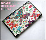 Цветные бабочки женский чехол Huawei T3 8 KOB-L09, чехол книжка TFC Butterflies, фото 3