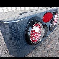 Тюнинг на ВАЗ 21099 - задние фонари с имитацией диодов,3D (карбон)