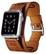 Ремінець Icarer для Apple iWatch 42mm Classic Genuine Leather ser. Світло-коричневий