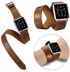 Ремешок Icarer для Apple iWatch 42mm Classic Genuine Leather ser. Светло-коричневый, фото 2