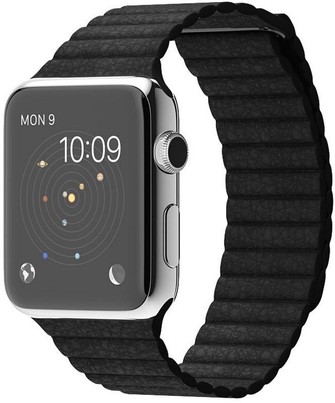 Ремінець для Apple iWatch 38mm Leather Loop Band ser. Black