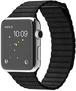 Ремешок для Apple iWatch 38mm Leather Loop Band ser. Black