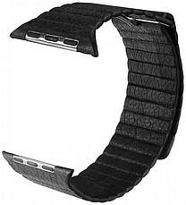 Ремінець для Apple iWatch 38mm Leather Loop Band ser. Black, фото 2