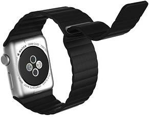 Ремінець для Apple iWatch 38mm Leather Loop Band ser. Black, фото 3