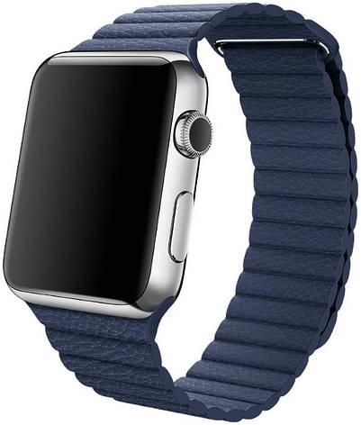 Ремінець для Apple iWatch 42mm Leather Loop Band ser. Blue(993602), фото 2