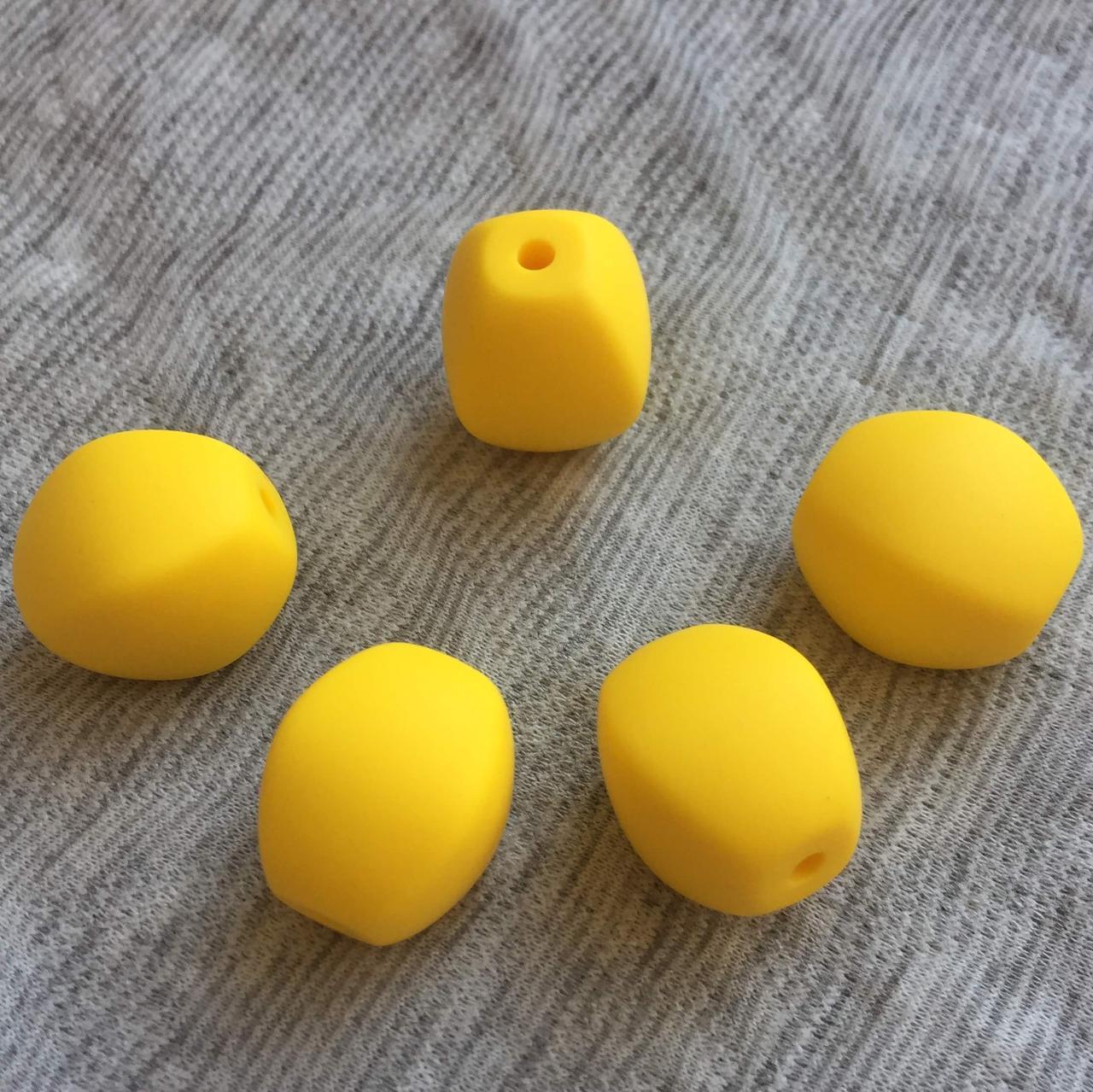 Оливка (желтая) силиконовые бусины