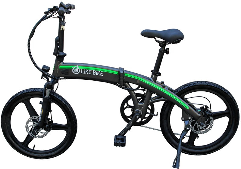Електровелосипед Like.Bike Flash(gray/green)