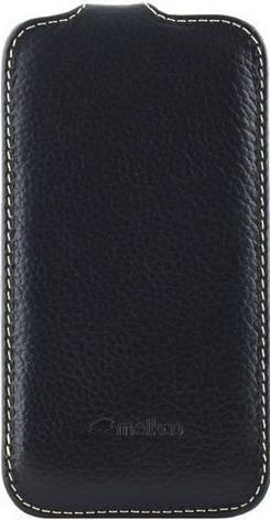 Чохол-фліп Melkco для Samsung i8262 Premium ser. Чорний, фото 2