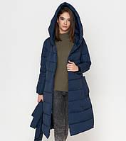 Теплое женское пальто «Tiger Force» (Бреггарт) на зиму синего цвета - XS