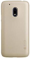 Чохол-накладка Nillkin для Motorola Moto G4 Play Matte ser. +півка Золотистий(129269), фото 3