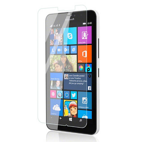 Захисне Скло Ultra Tempered Glass для Microsoft(Nokia) Lumia 640 XL 0.33mm Прозоре, фото 2