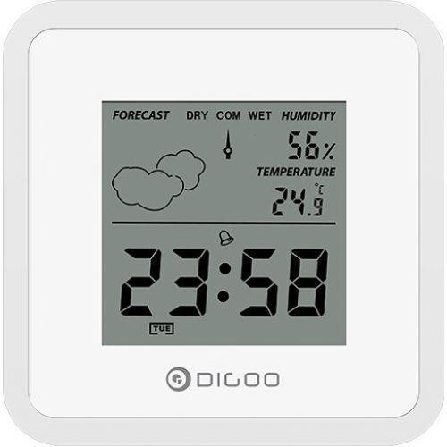 Часы с функциями метеостанции для дома Digoo DG-FC25 Mini белые