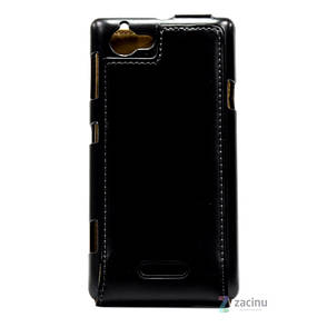 Чехол флип Hama для Sony Xperia L Smart Case Черный, фото 2