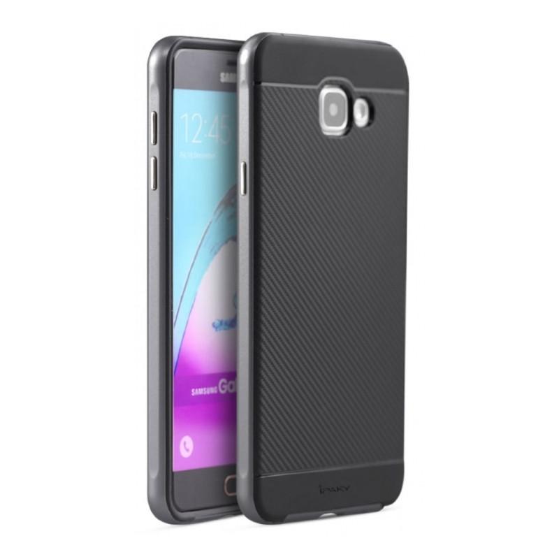 Чехол накладка iPaky для Samsung A710F A7 (2016) TPU + PC Черный / серый