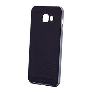 Чехол накладка iPaky для Samsung A710F A7 (2016) TPU + PC Черный / серый, фото 2