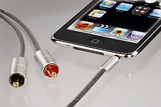 Аудіо-відео кабель Hama Jack 3.5мм -2 x Тюльпани 100см Чорний-сірий, фото 3