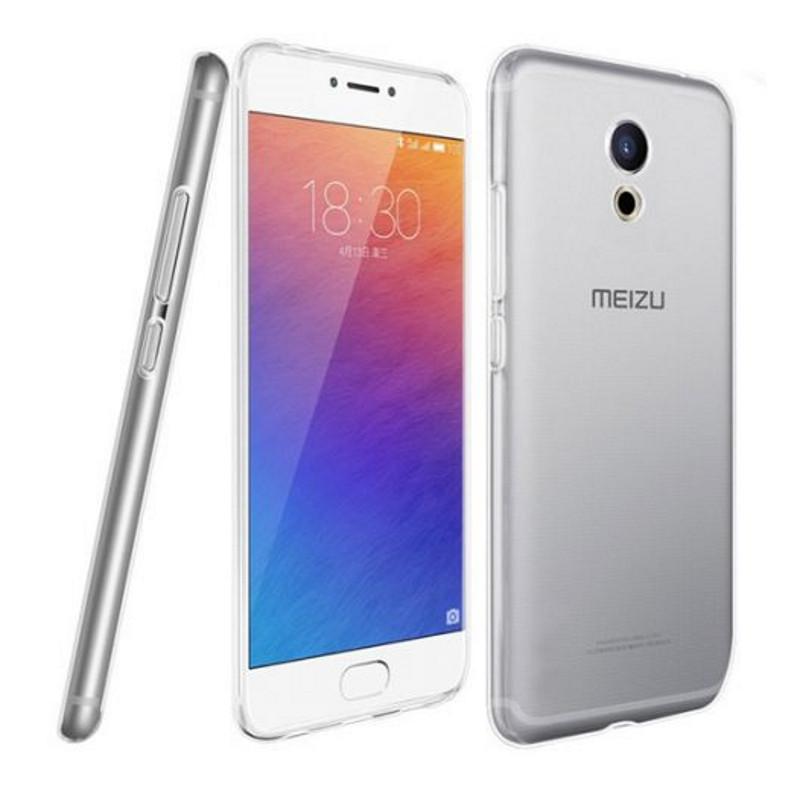 Чехол накладка TPU для Meizu Pro 6 Ultra thin ser. Прозрачный / бесцветный