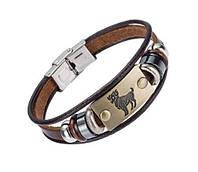 Кожаный браслет Primo Zodiac - Aries (Овен)