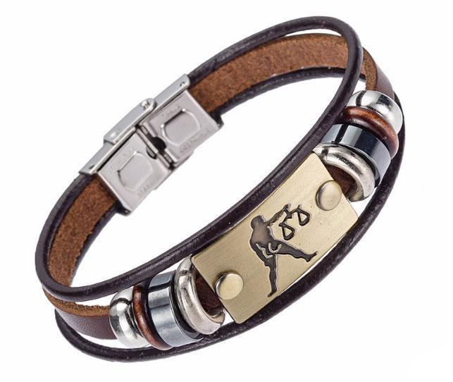 Кожаный браслет Primo Zodiac - Librа (Весы)