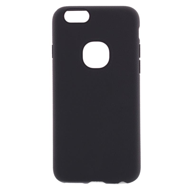 Чехол накладка iPaky для iPhone 6 / 6S Силикон Имитация кожи Черный
