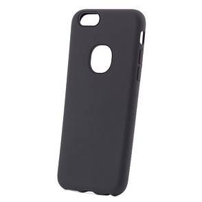 Чехол накладка iPaky для iPhone 6 / 6S Силикон Имитация кожи Черный, фото 2