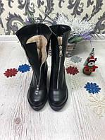 Зимние ботинки на молнии спереди