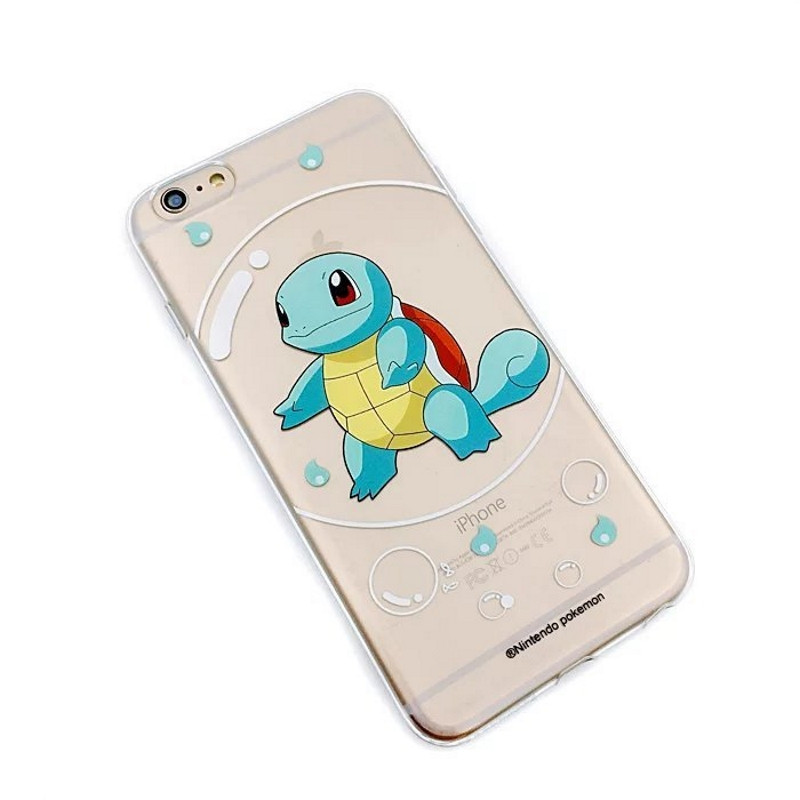 "Чехол накладка для iPhone 6 / 6S ""Pokemon GO"" ser. Squirtle bubble прозрачный (307078)"