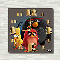 Настенные часы - Злые птички   настінний годинник - Злі птахи   Angry Birds  wall clock 60220b1ea7550
