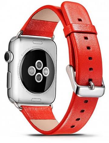 Ремінець Icarer для Apple iWatch 38mm Luxury Genuine Leather ser. Червоний(992858), фото 2