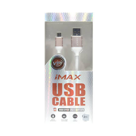 Кабель iMax microUSB 3.0 200см White, фото 2