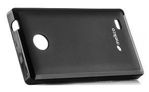 Чехол накладка Melkco для Nokia X Poly Jacket ser. TPU Черный, фото 2