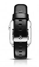 Ремінець Icarer для Apple iWatch 38mm Luxury Genuine Leather ser. Чорний, фото 3