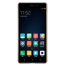 Чехол накладка Nillkin для Xiaomi Redmi 4 Matte ser. + Пленка Золотистый (133686), фото 3